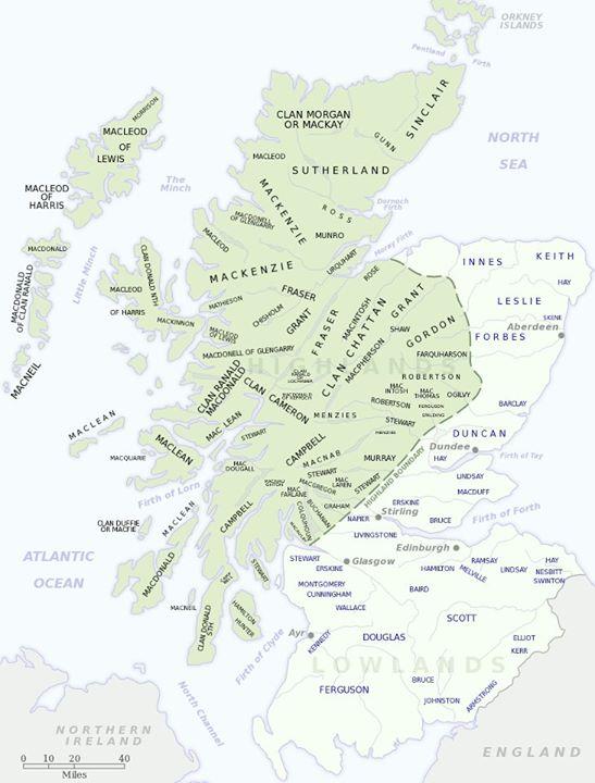 Scozia Cartina Dettagliata.Clan E Tartan Associazione Culturale Tre Draghi